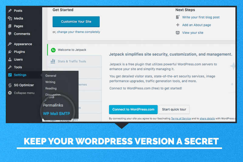 Keep your WordPress version a secret