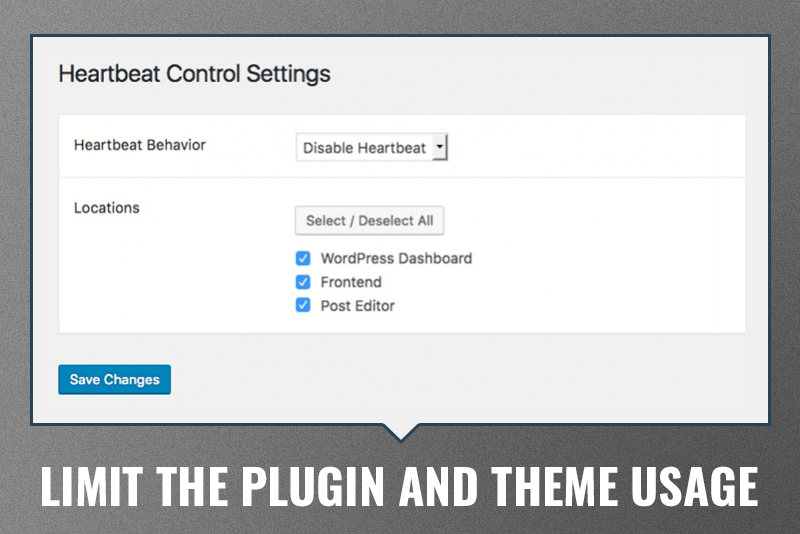 Limit the plugin and theme usage