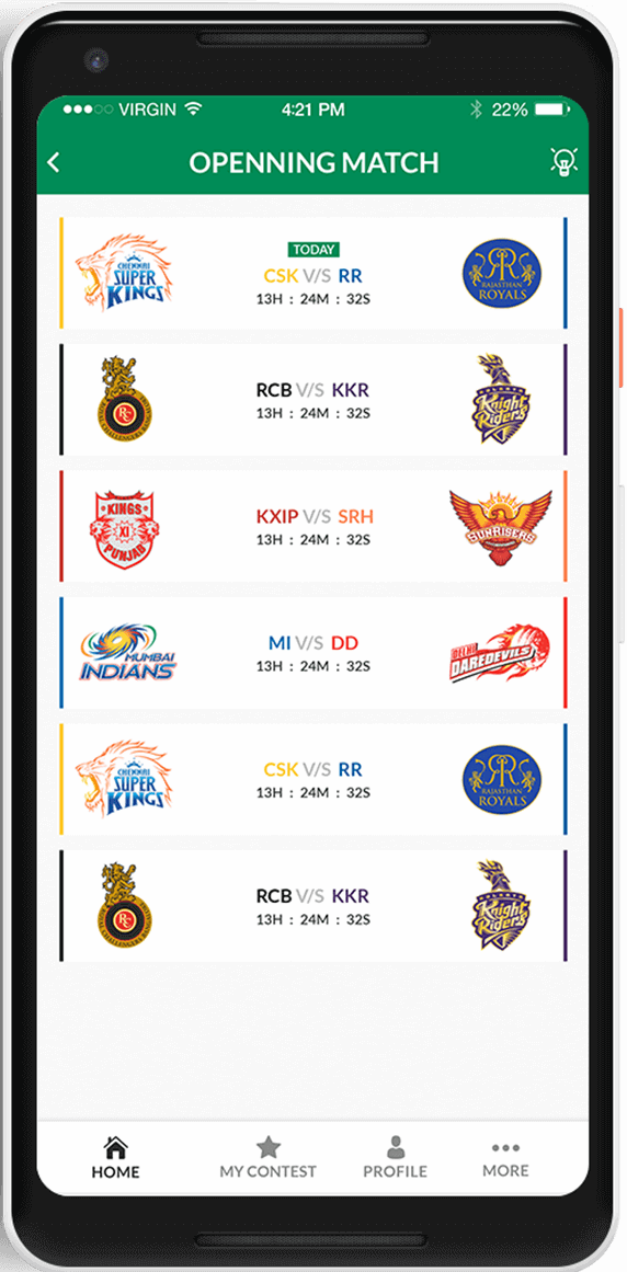 build fantasy app like dream11
