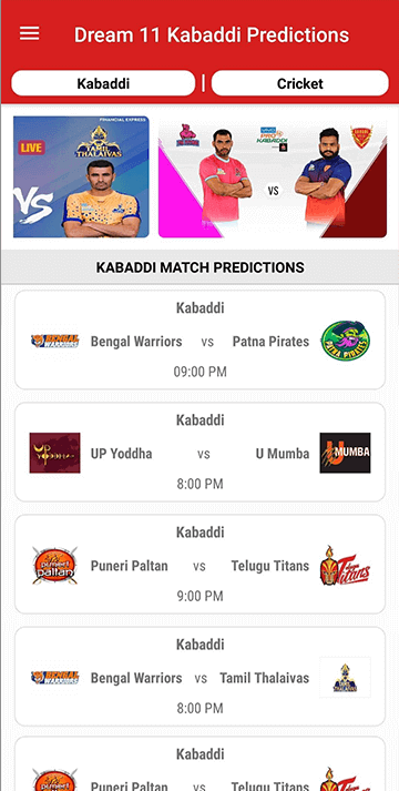 daily kabaddi batting app
